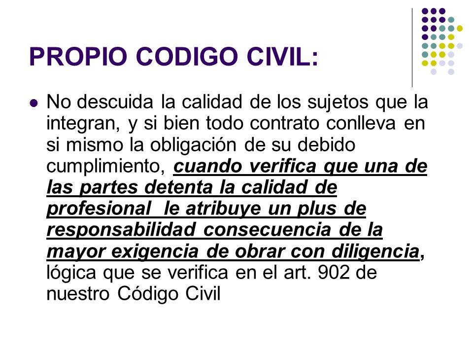 PROPIO CODIGO CIVIL: