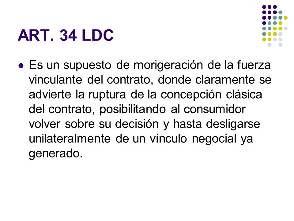 ART. 34 LDC