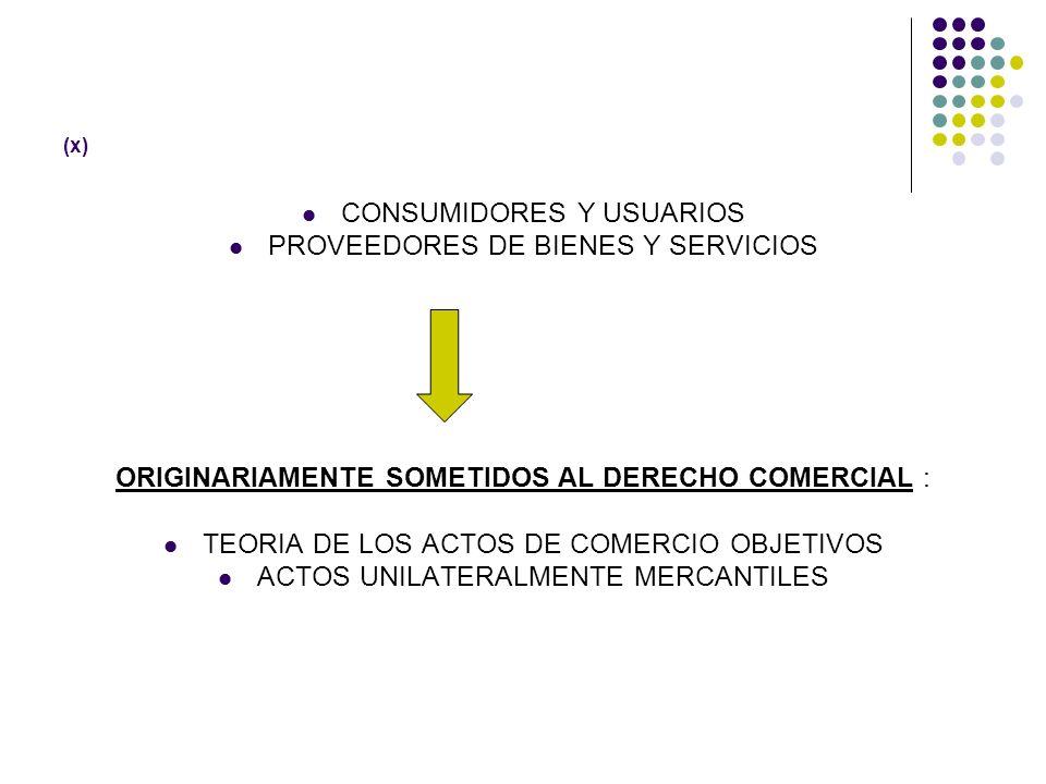 CONSUMIDORES Y USUARIOS PROVEEDORES DE BIENES Y SERVICIOS