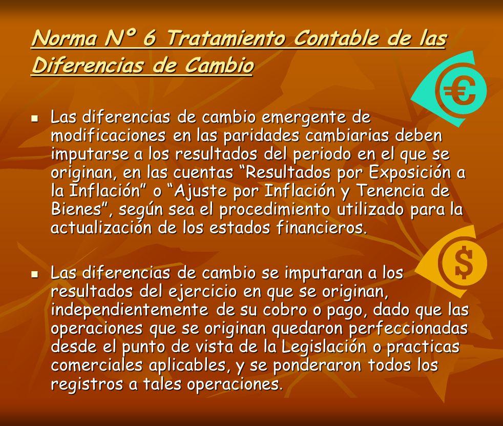 Norma Nº 6 Tratamiento Contable de las Diferencias de Cambio
