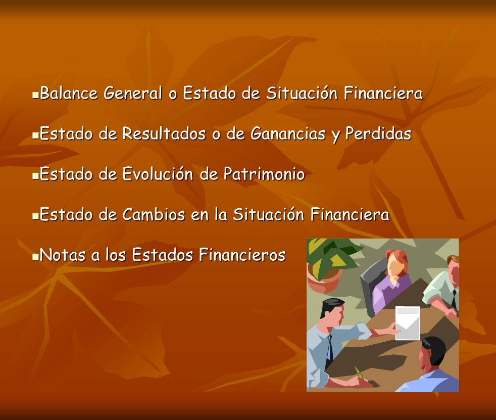 Balance General o Estado de Situación Financiera