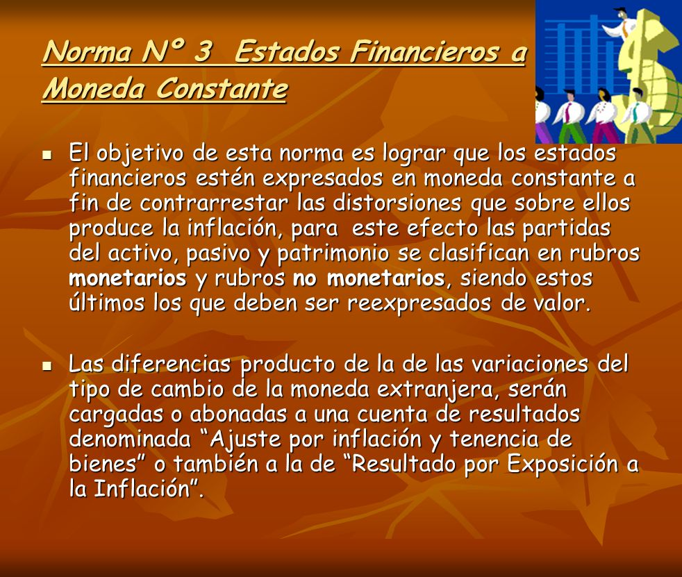 Norma Nº 3 Estados Financieros a Moneda Constante