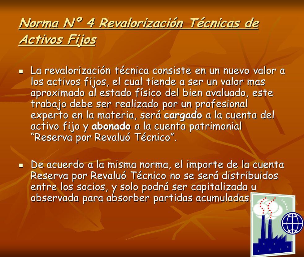 Norma Nº 4 Revalorización Técnicas de Activos Fijos