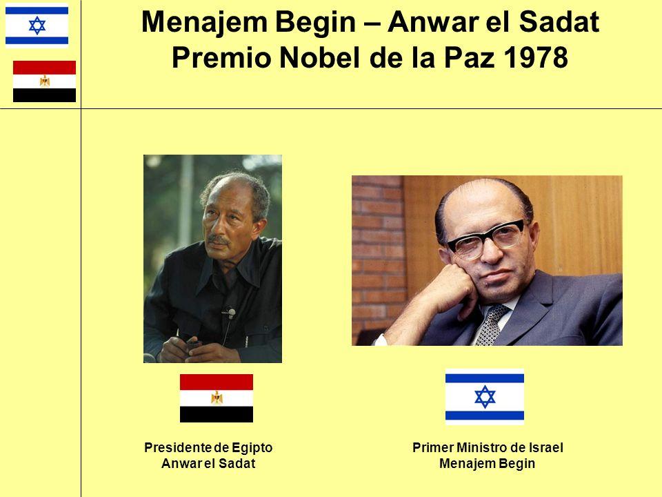 Menajem Begin – Anwar el Sadat Primer Ministro de Israel