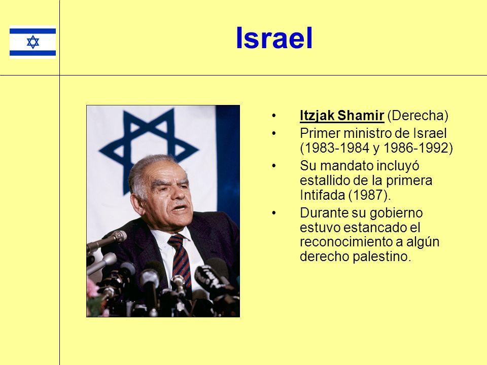 Israel Itzjak Shamir (Derecha)