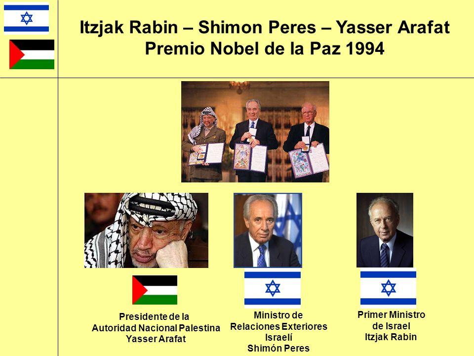 Itzjak Rabin – Shimon Peres – Yasser Arafat