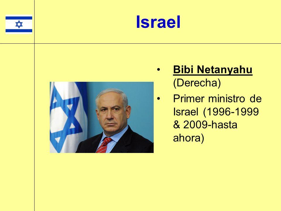 Israel Bibi Netanyahu (Derecha)