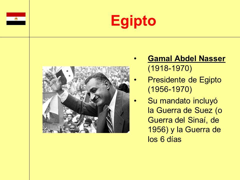 Egipto Gamal Abdel Nasser (1918-1970) Presidente de Egipto (1956-1970)