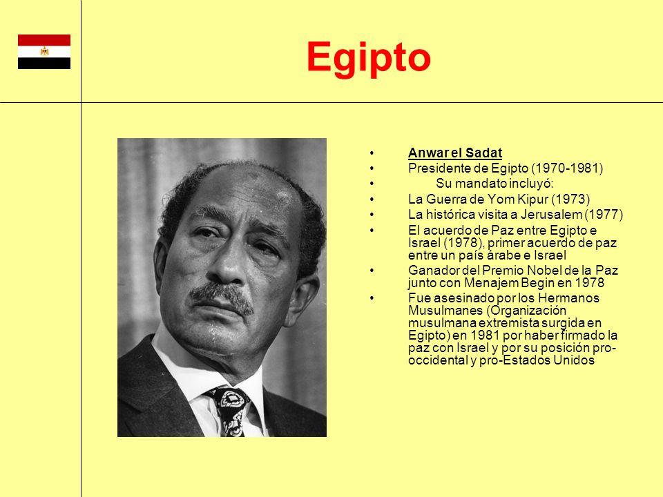 Egipto Anwar el Sadat Presidente de Egipto (1970-1981)