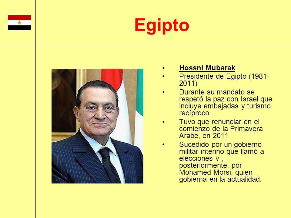 Egipto Hossni Mubarak Presidente de Egipto (1981-2011)