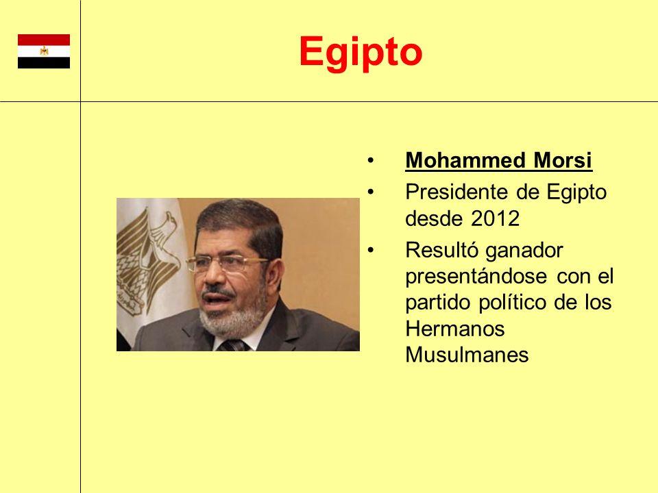 Egipto Mohammed Morsi Presidente de Egipto desde 2012