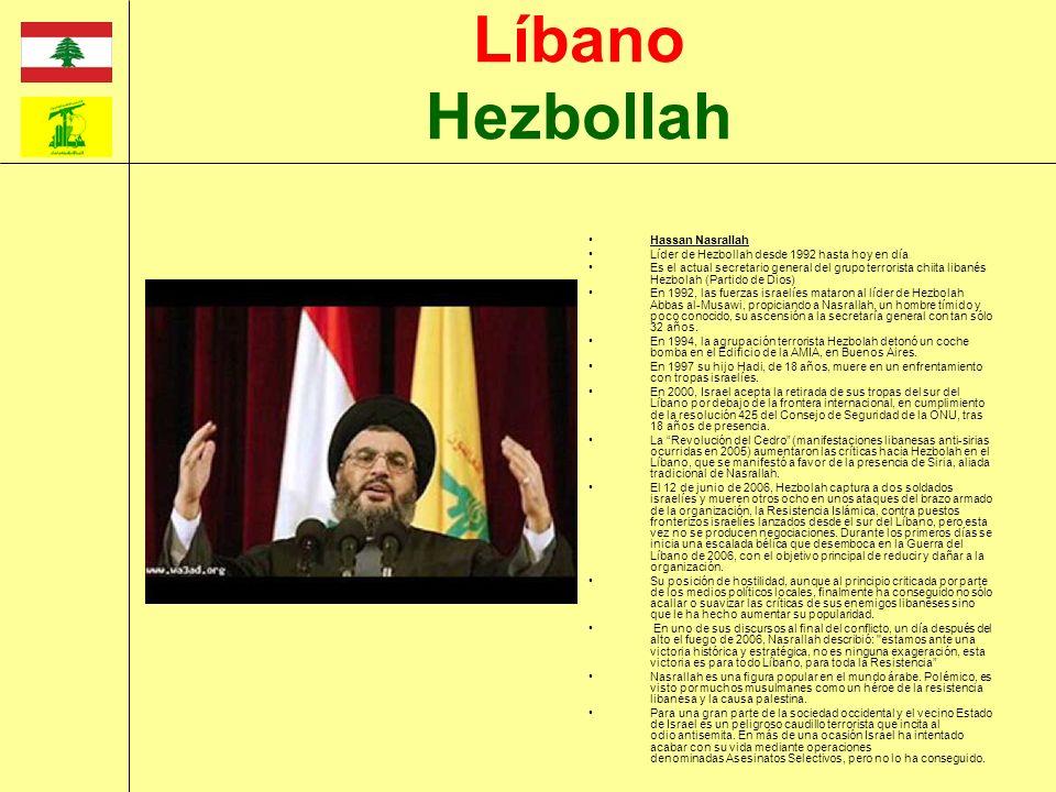 Líbano Hezbollah Hassan Nasrallah