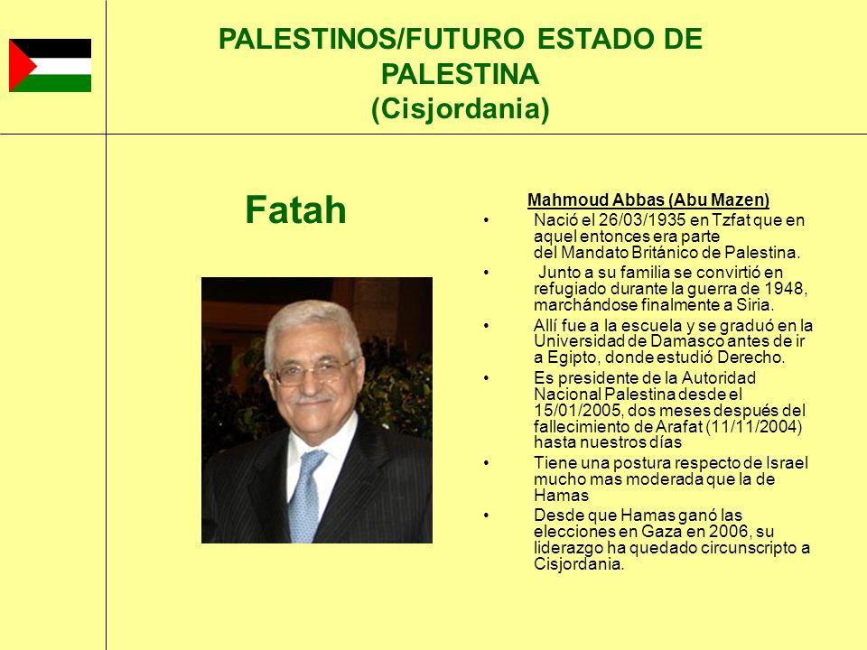 PALESTINOS/FUTURO ESTADO DE PALESTINA (Cisjordania)