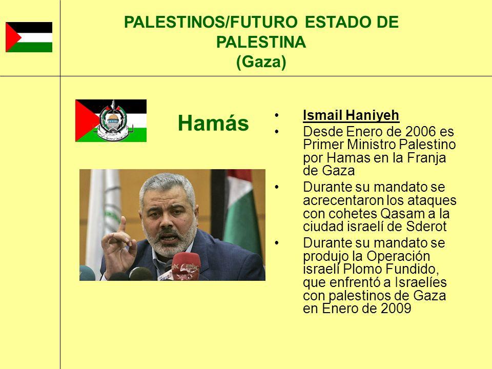 PALESTINOS/FUTURO ESTADO DE PALESTINA (Gaza)