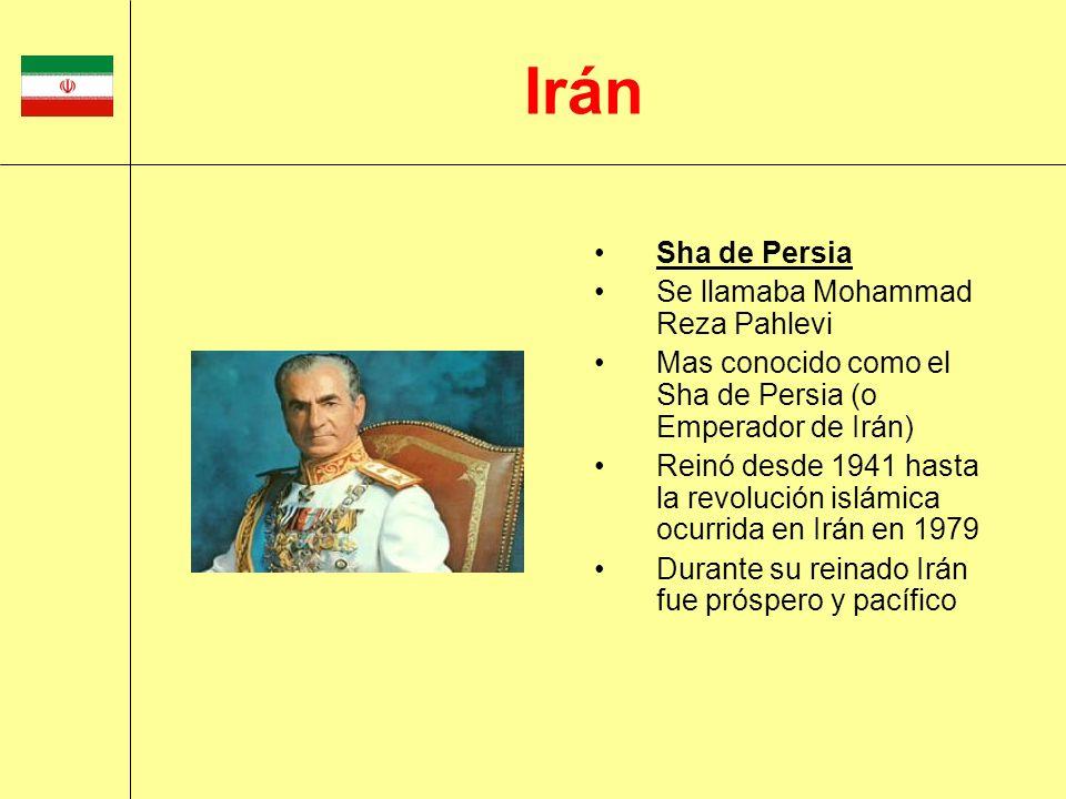 Irán Sha de Persia Se llamaba Mohammad Reza Pahlevi