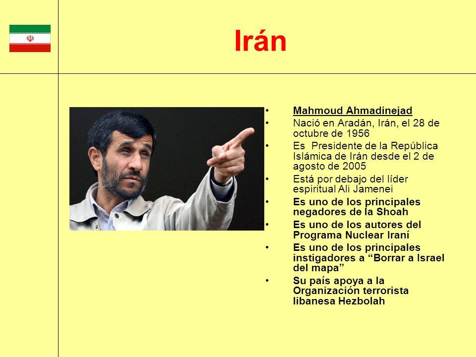 Irán Mahmoud Ahmadinejad