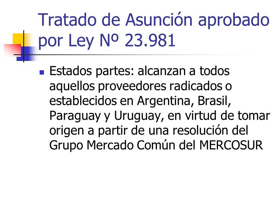 Tratado de Asunción aprobado por Ley Nº 23.981