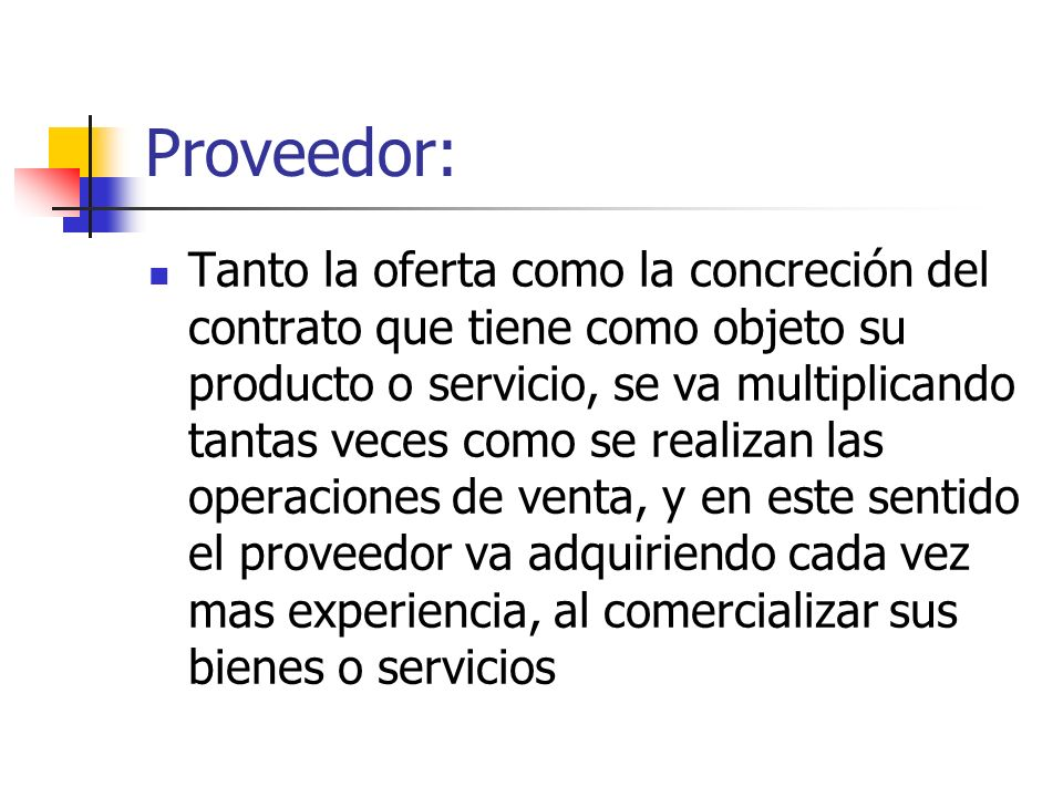 Proveedor: