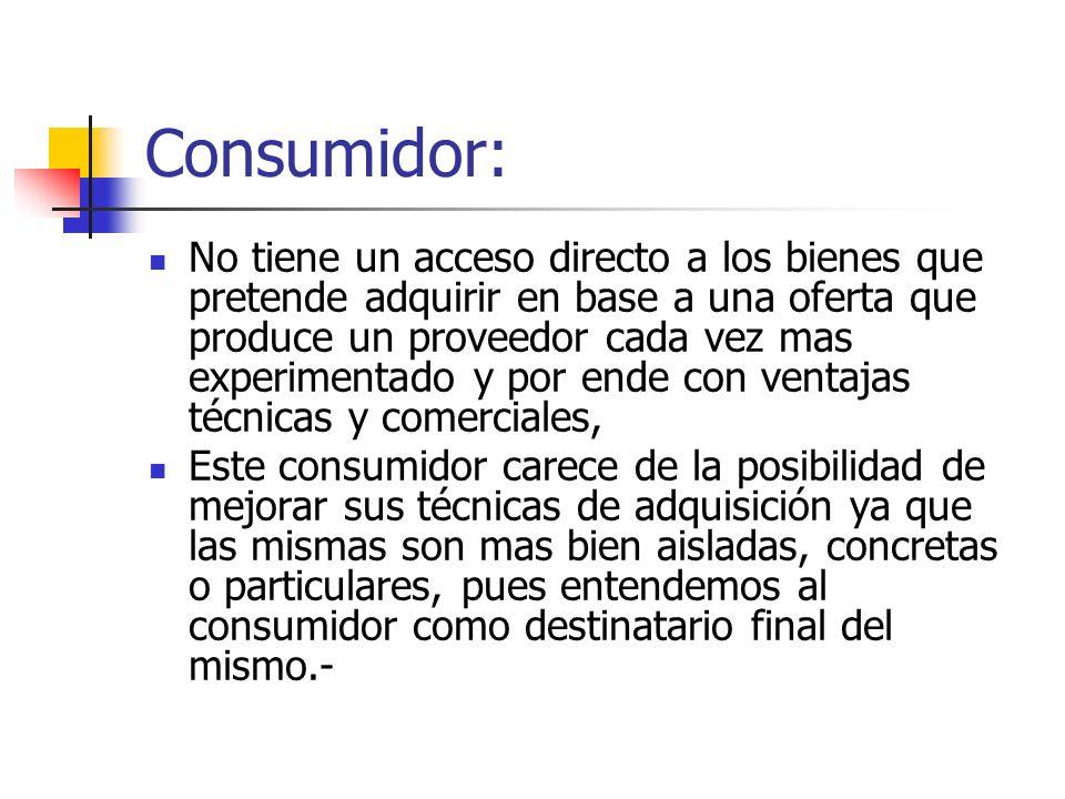 Consumidor: