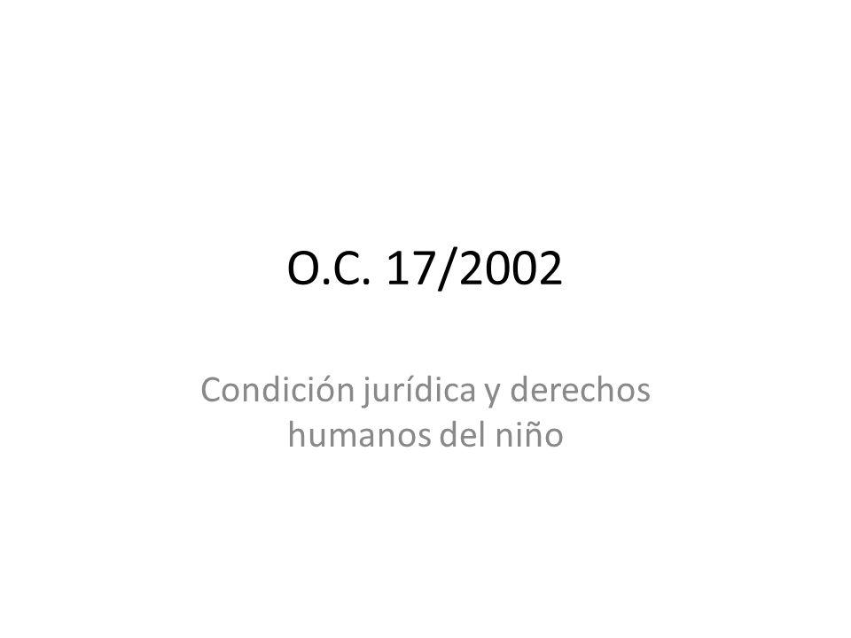 Condición jurídica y derechos humanos del niño