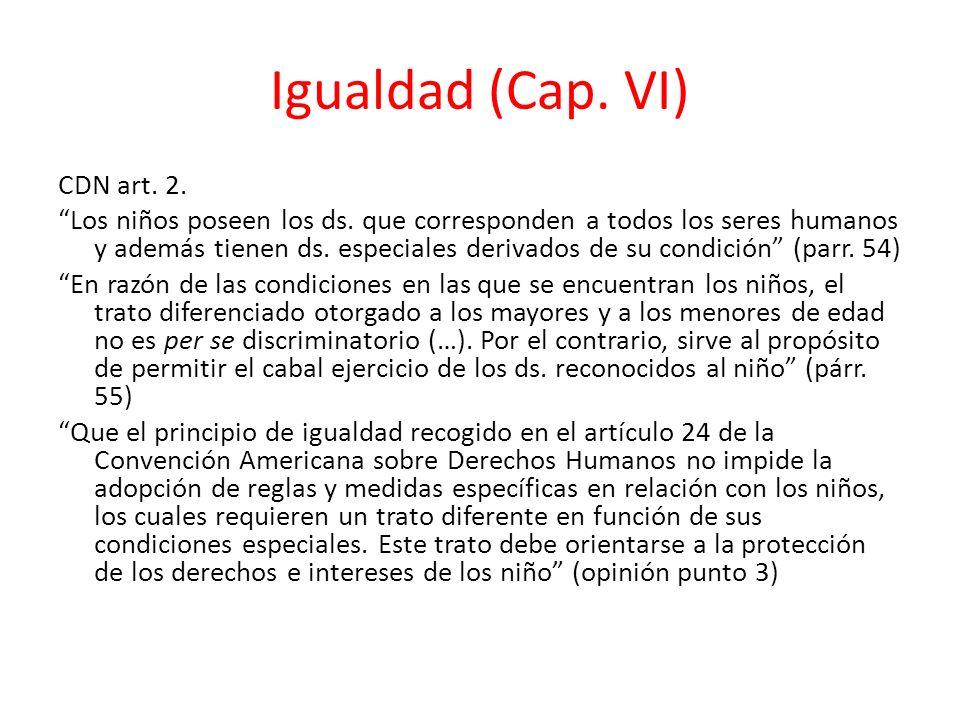 Igualdad (Cap. VI)