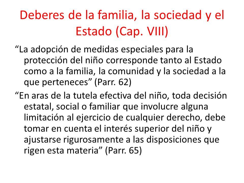 Deberes de la familia, la sociedad y el Estado (Cap. VIII)
