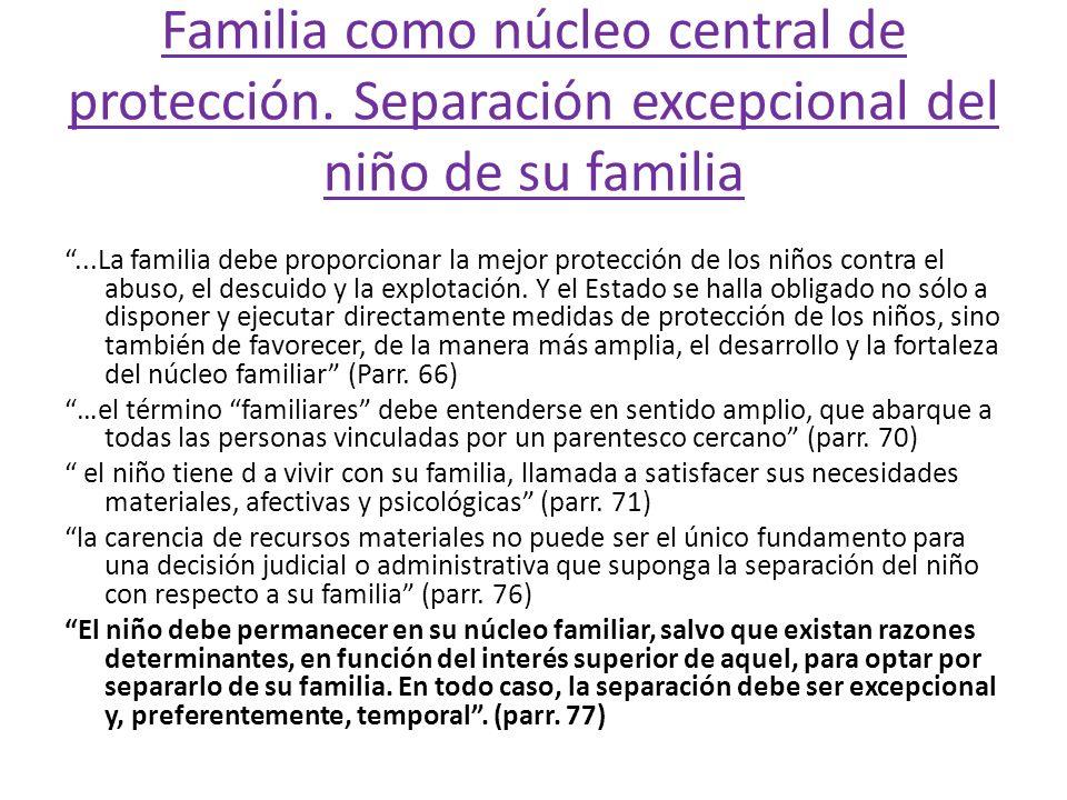 Familia como núcleo central de protección