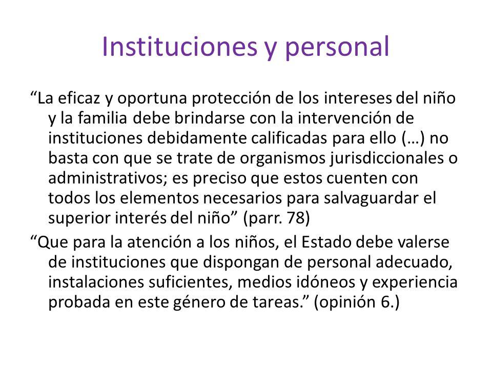 Instituciones y personal