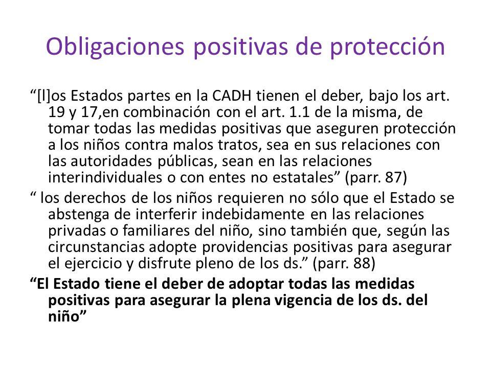 Obligaciones positivas de protección