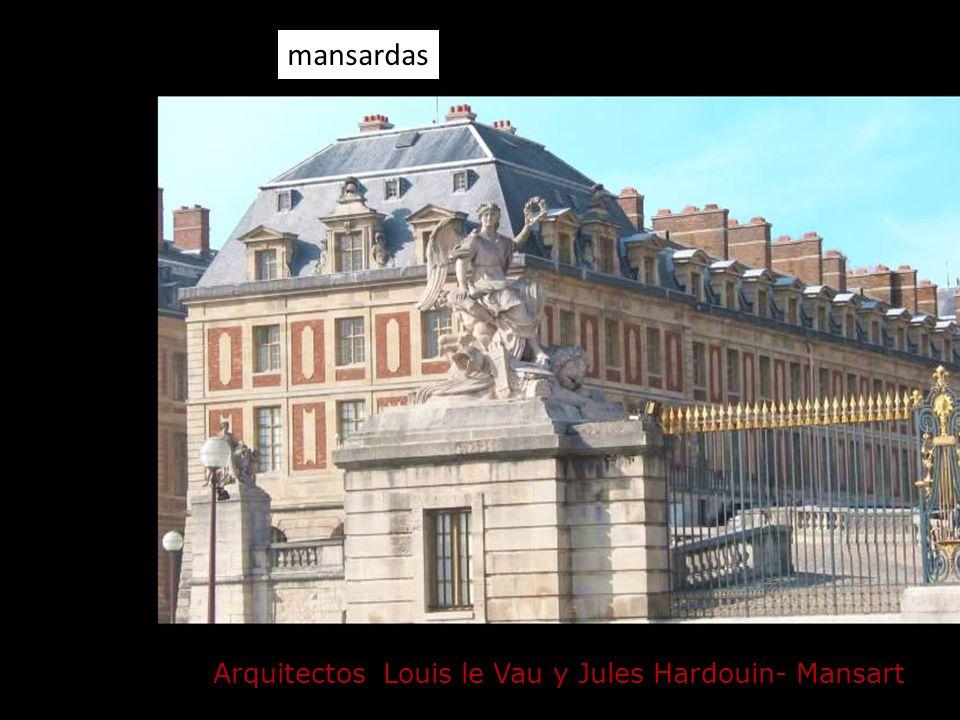 Arquitectos Louis le Vau y Jules Hardouin- Mansart