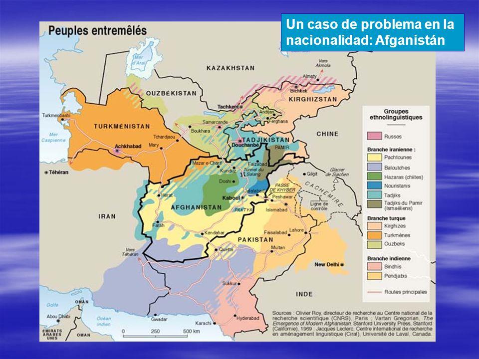 Un caso de problema en la nacionalidad: Afganistán