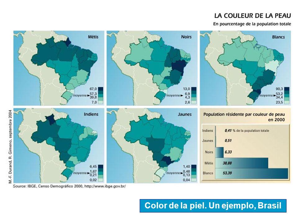 Color de la piel. Un ejemplo, Brasil