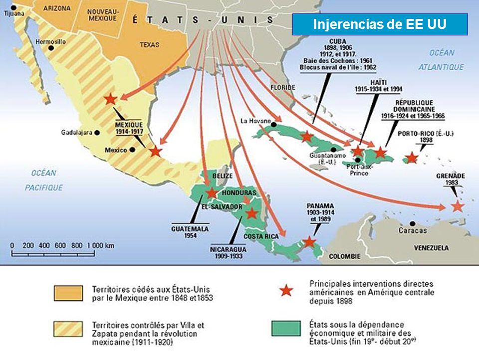 Injerencias de EE UU Fuente: www.sciencie-po.fr/cartographie
