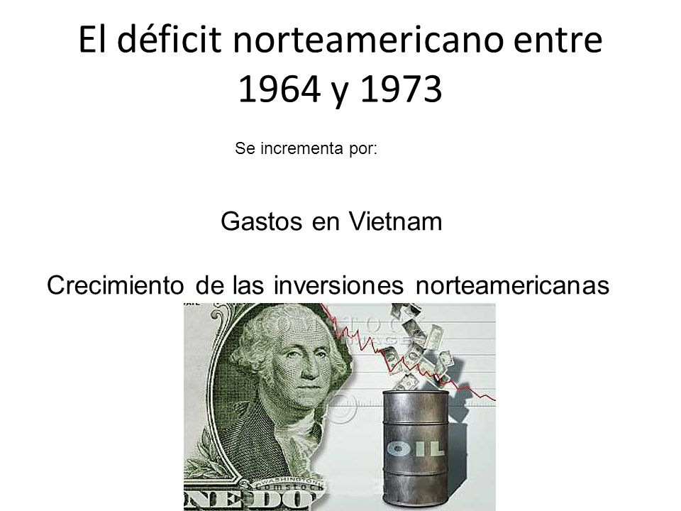 El déficit norteamericano entre 1964 y 1973