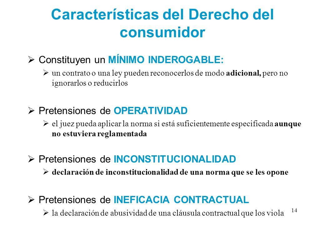 Características del Derecho del consumidor