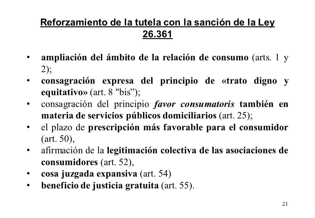 Reforzamiento de la tutela con la sanción de la Ley 26.361