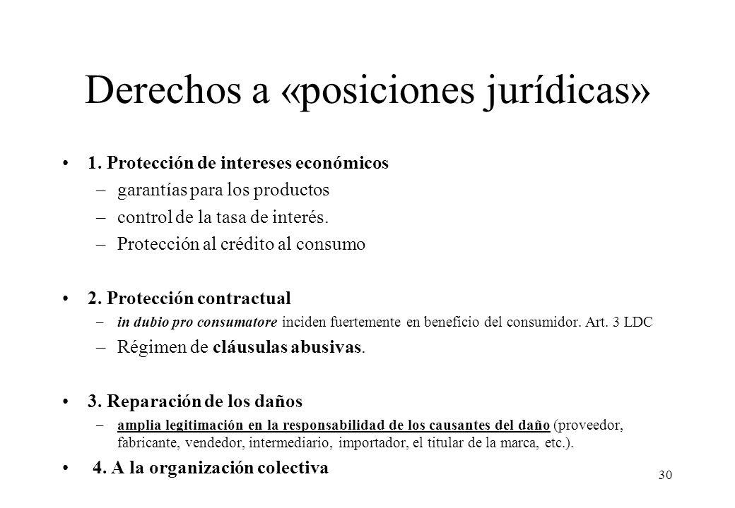 Derechos a «posiciones jurídicas»