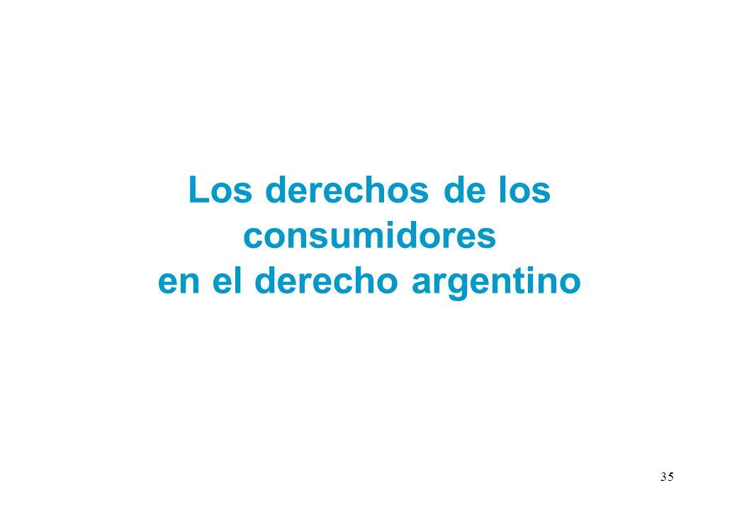 Los derechos de los consumidores en el derecho argentino