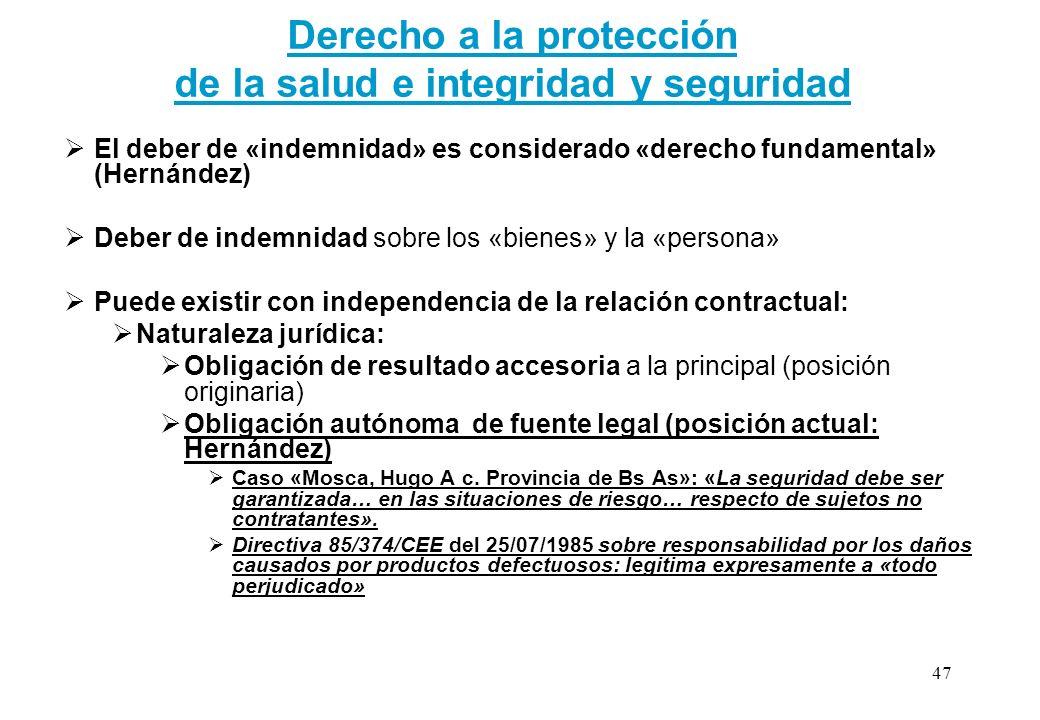 Derecho a la protección de la salud e integridad y seguridad