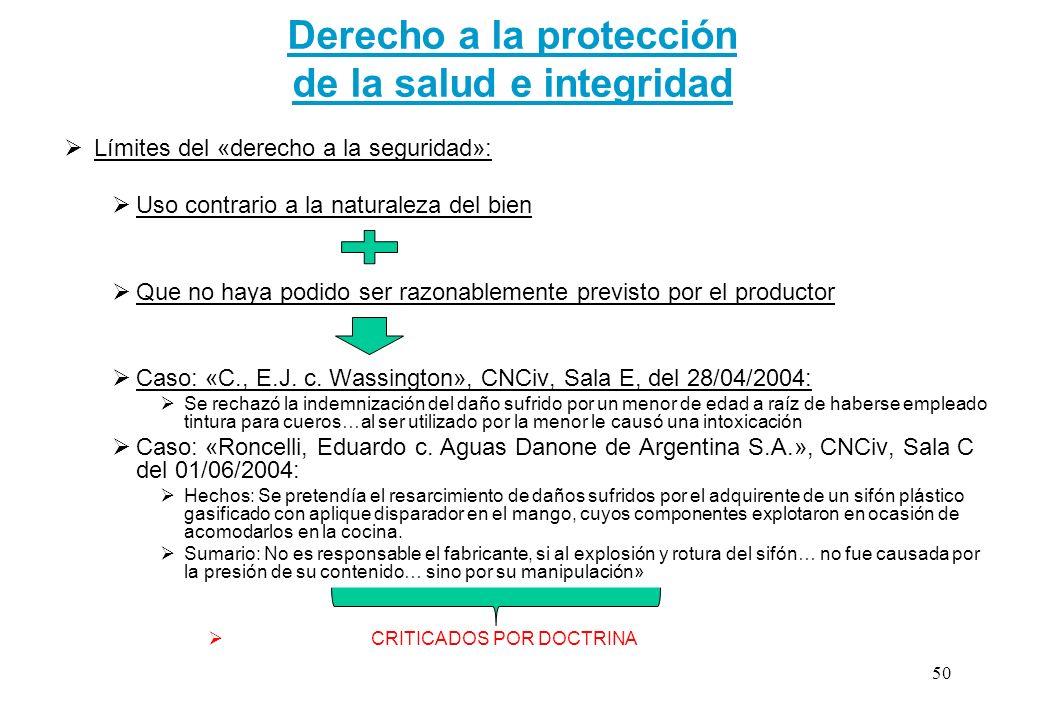 Derecho a la protección de la salud e integridad