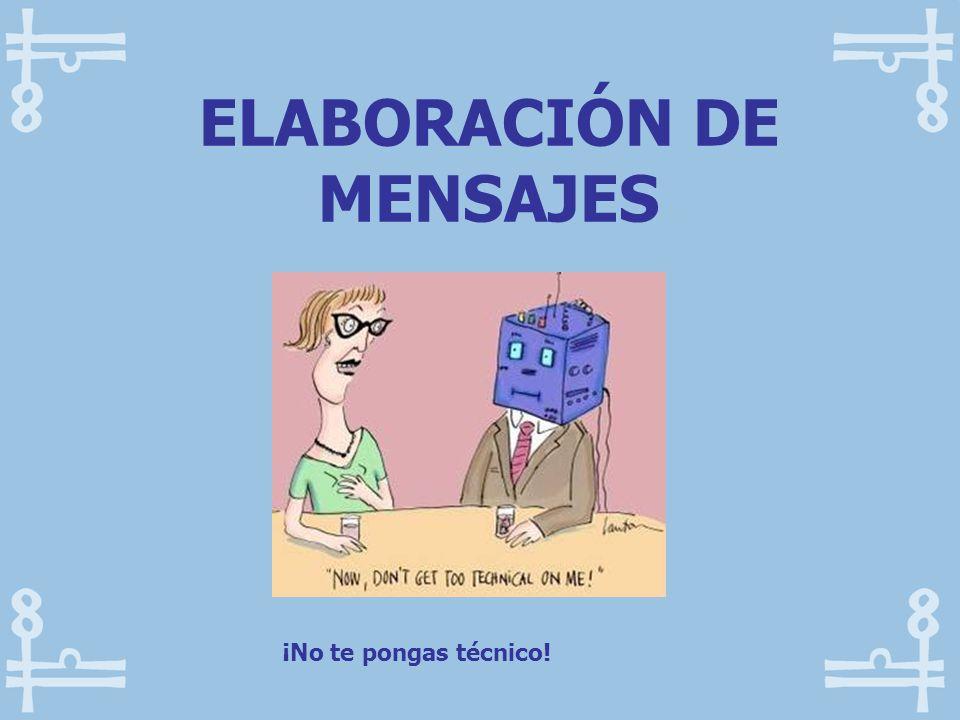 ELABORACIÓN DE MENSAJES
