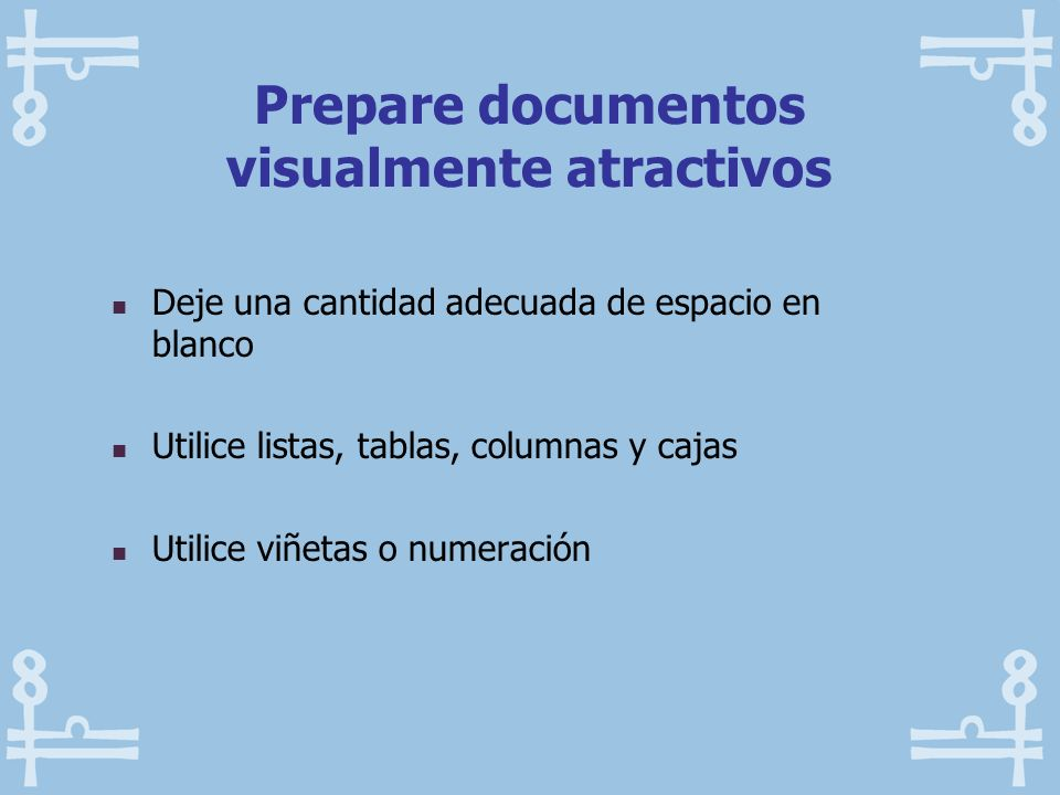 Prepare documentos visualmente atractivos