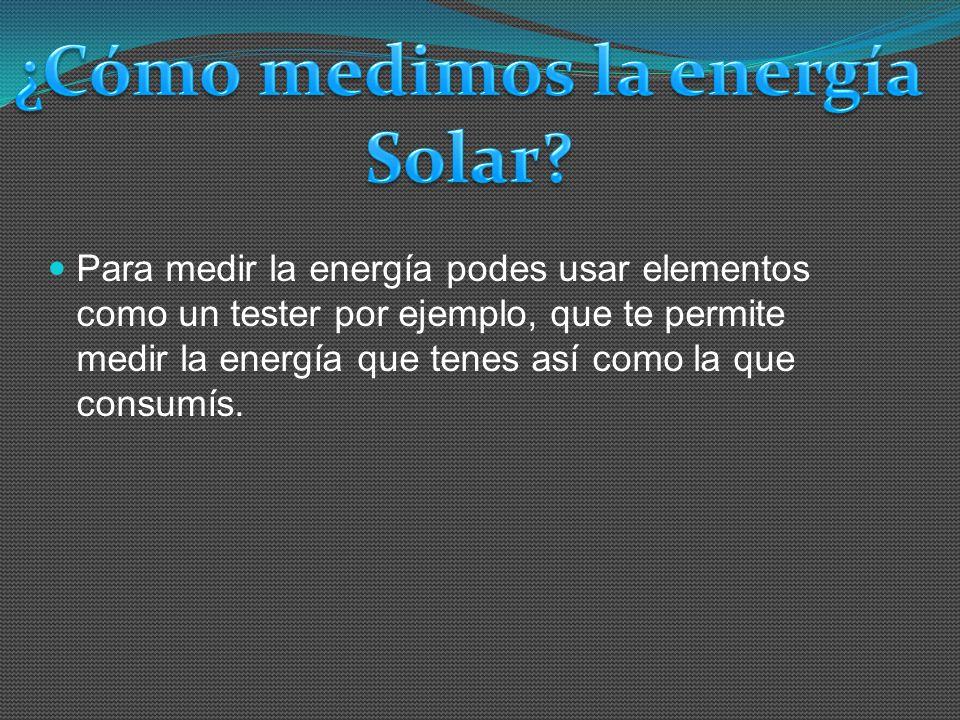 ¿Cómo medimos la energía