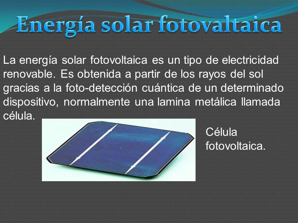 Energía solar fotovaltaica