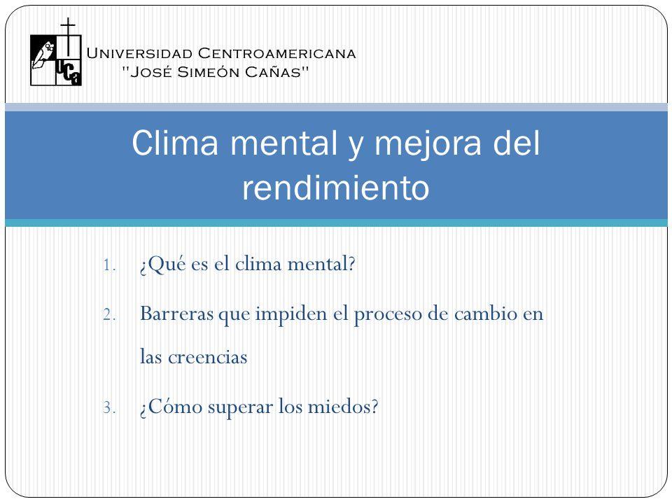 Clima mental y mejora del rendimiento