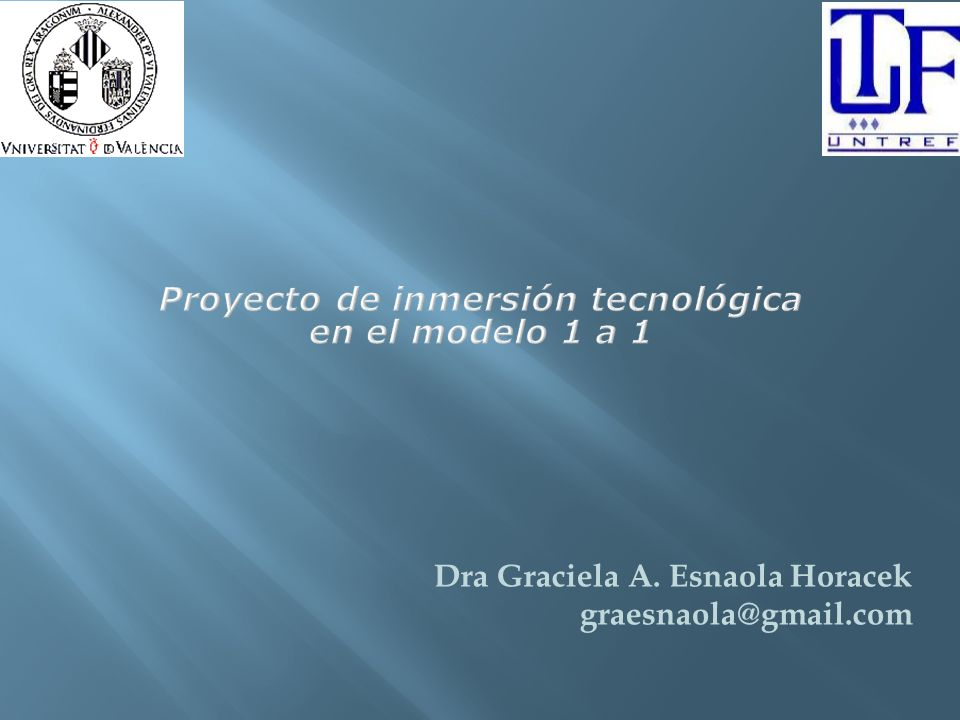 Proyecto de inmersión tecnológica