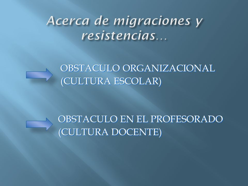 Acerca de migraciones y resistencias…