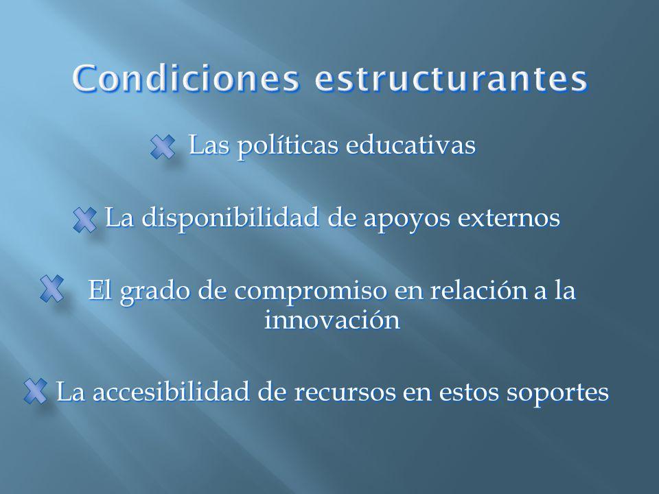 Condiciones estructurantes