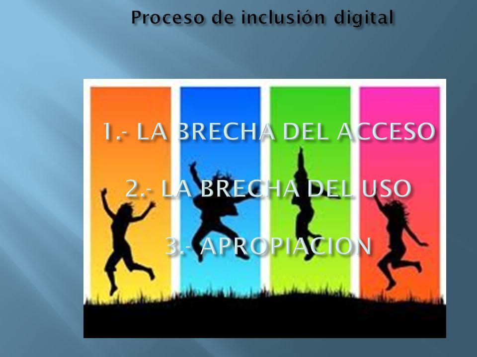 Proceso de inclusión digital 1. - LA BRECHA DEL ACCESO 2