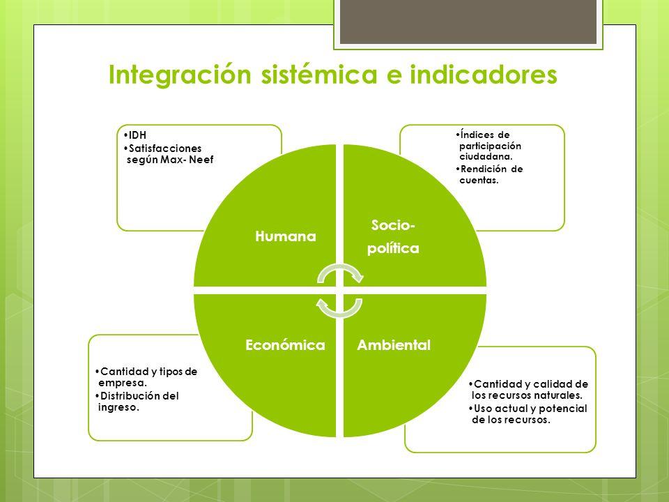 Integración sistémica e indicadores